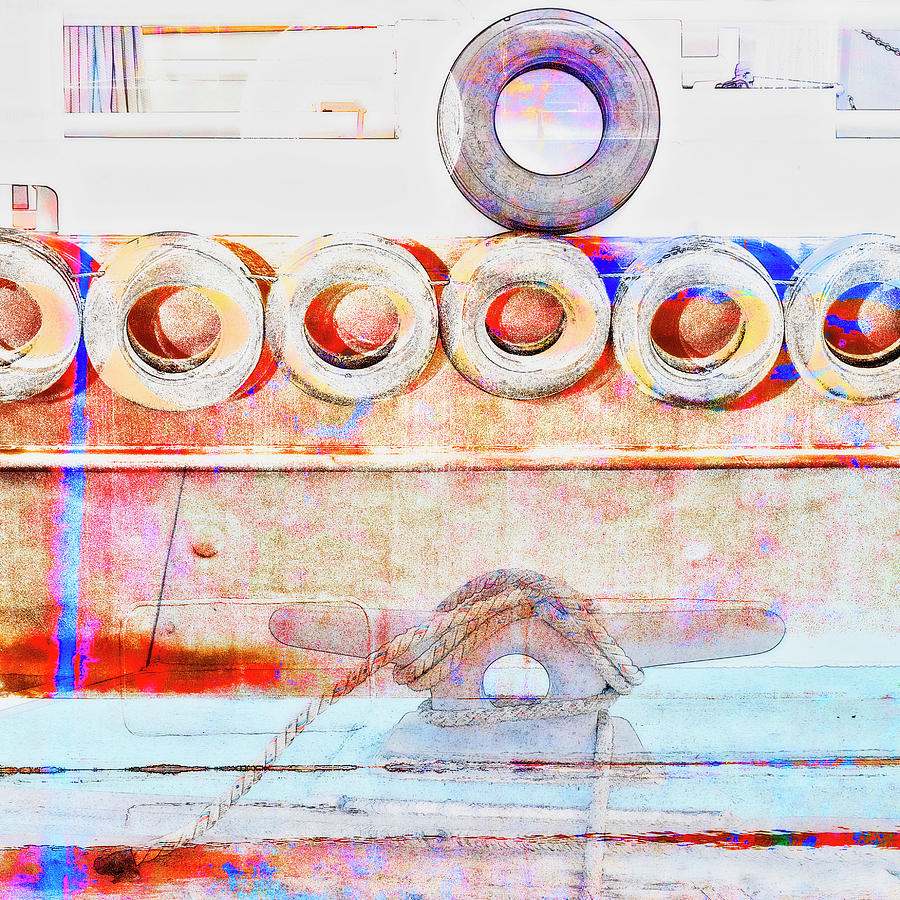 Anacortes Mixed Media - Dockside by Carol Leigh