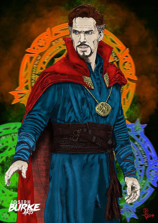 Marvel Comics Digital Art - Doctor Strange by Joseph Burke