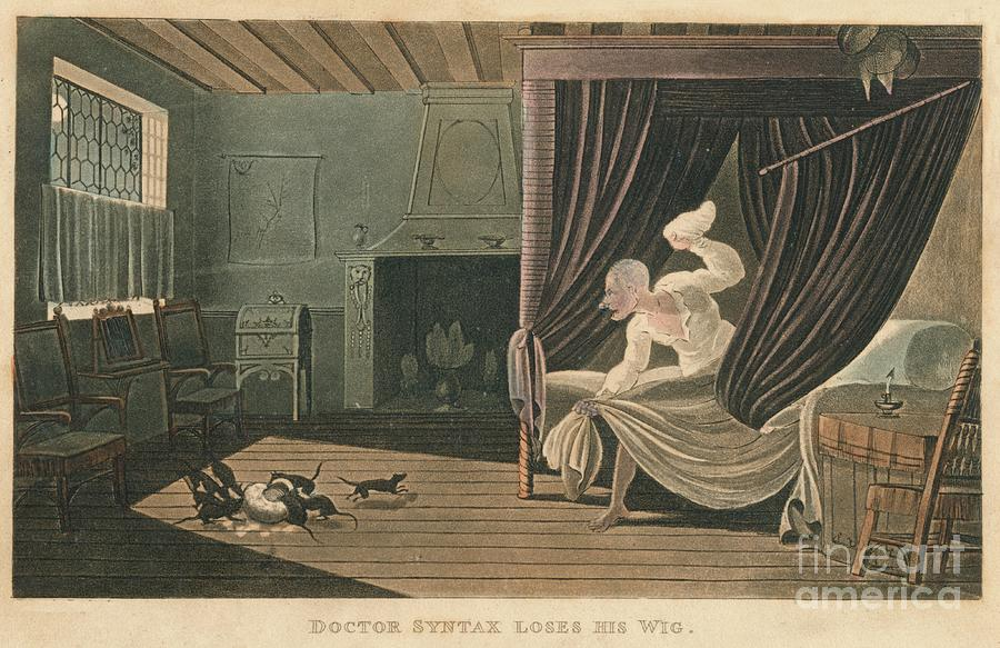 Doctor Syntax Loses His Wig, 1820 Drawing by Print Collector