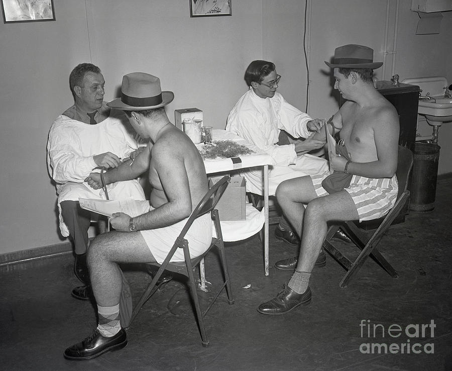 Doctors Give Blood For Testing Photograph by Bettmann