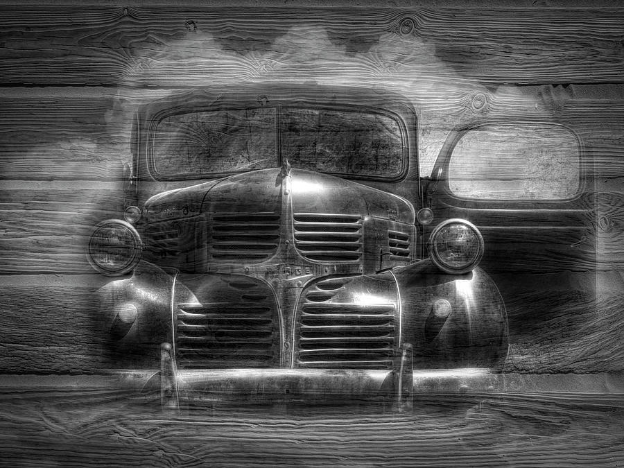 1937 Photograph - Dodge Black And White by Debra and Dave Vanderlaan