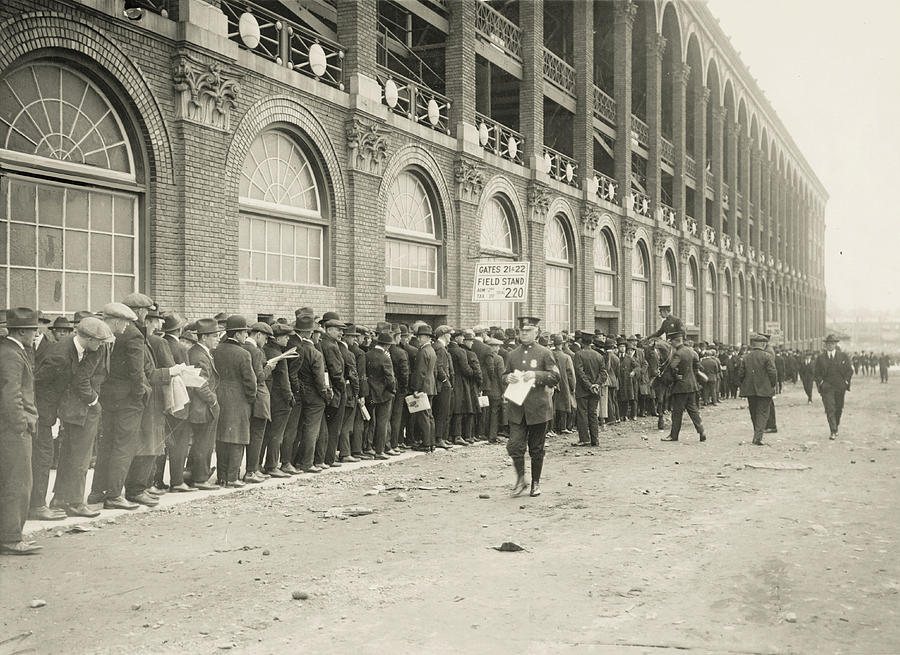 Dodgers Fans In Line At Ebbets Field Photograph by Fpg
