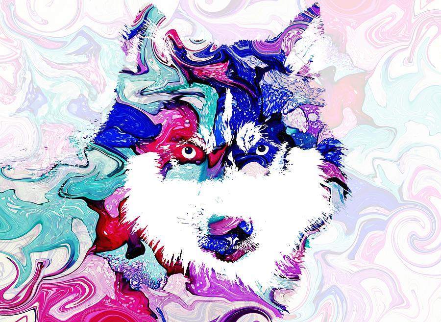 Dog 148 Husky by Lucie Dumas