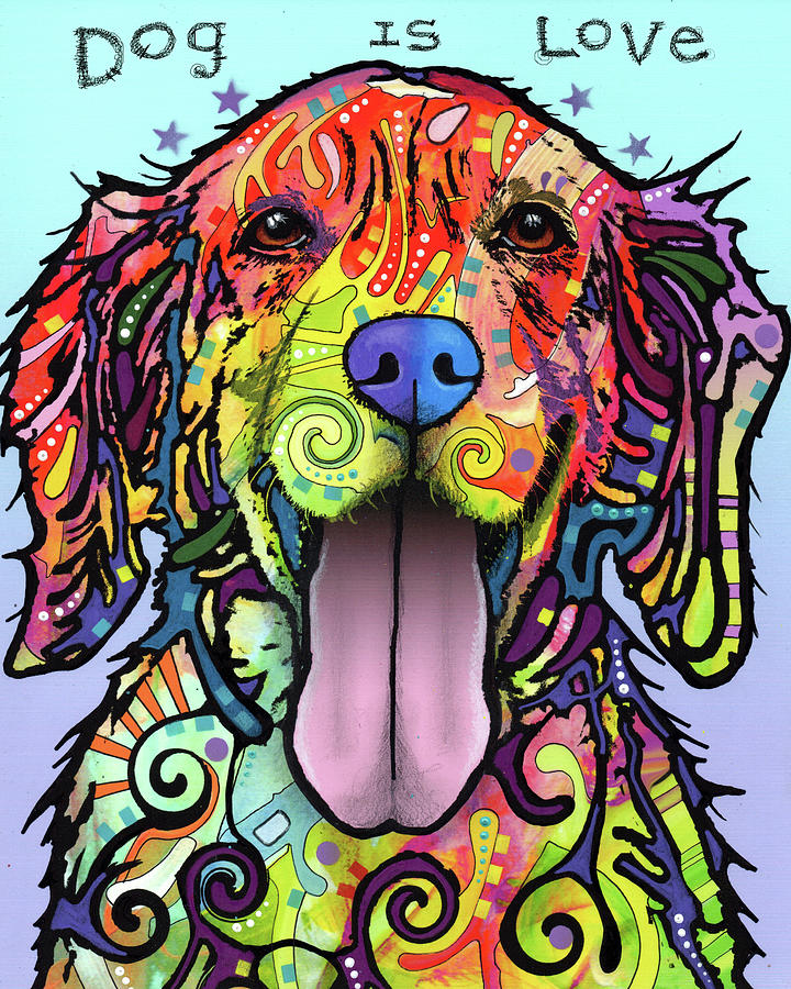 Domestic Dogs Mixed Media - Dog Is Love by Dean Russo