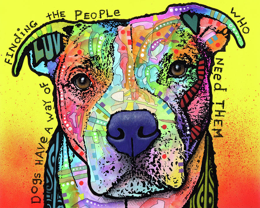 Pups Mixed Media - Dogs Have A Way by Dean Russo