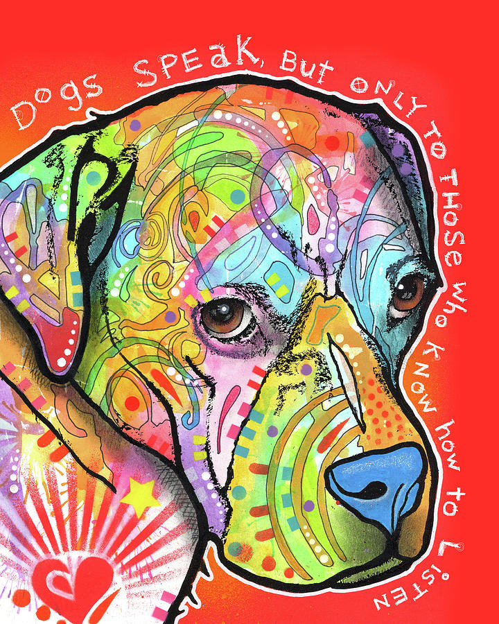 Pups Mixed Media - Dogs Speak by Dean Russo