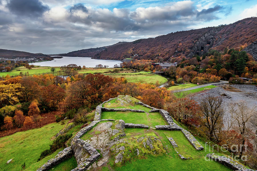 Fall Photograph - Dolbadarn Castle View by Adrian Evans