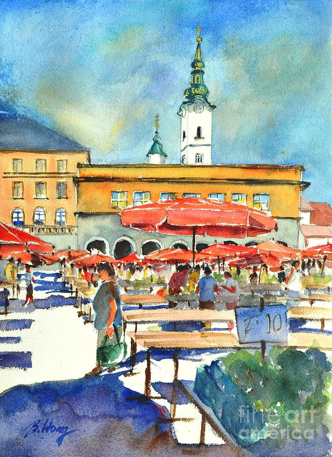 Dolce Market in Zagreb #1 by Betty M M Wong