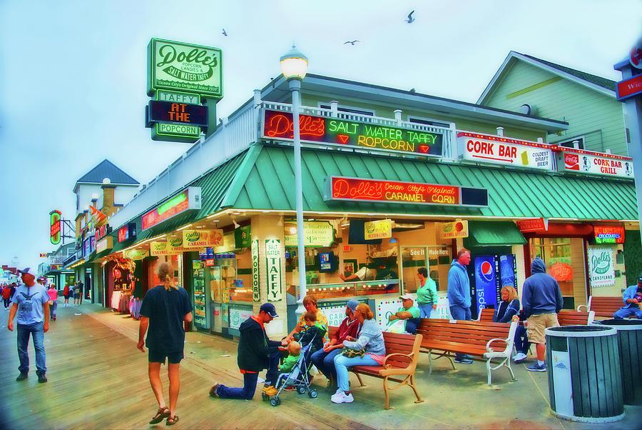 Dolle's. Boardwalk, Ocean City, MD by Bill Jonscher