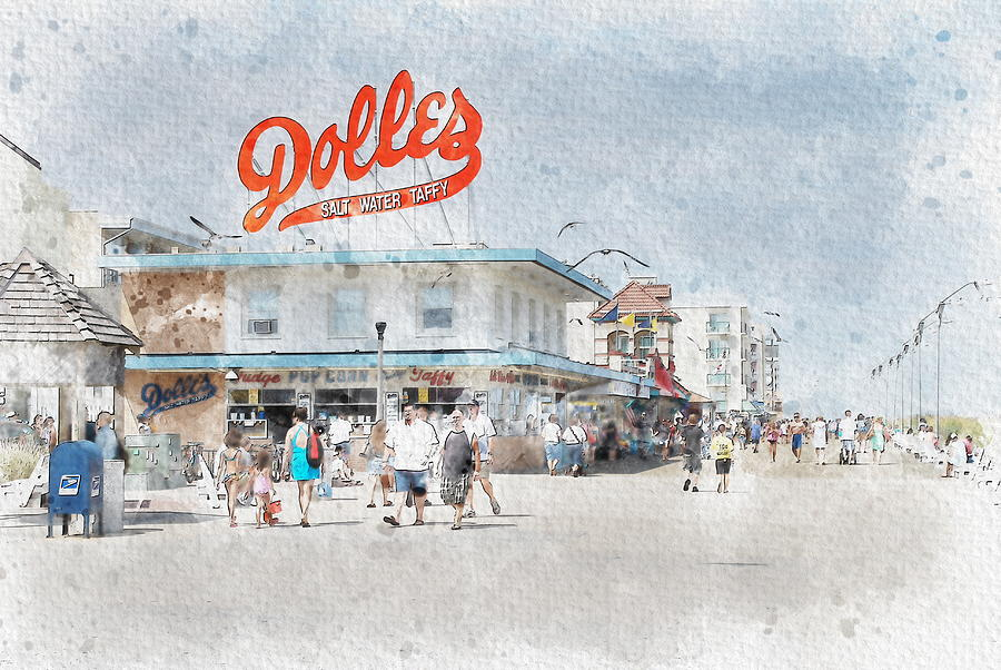 Dolles Candyland Photograph - Dolles Candyland Watercolor by Two Small Potatoes