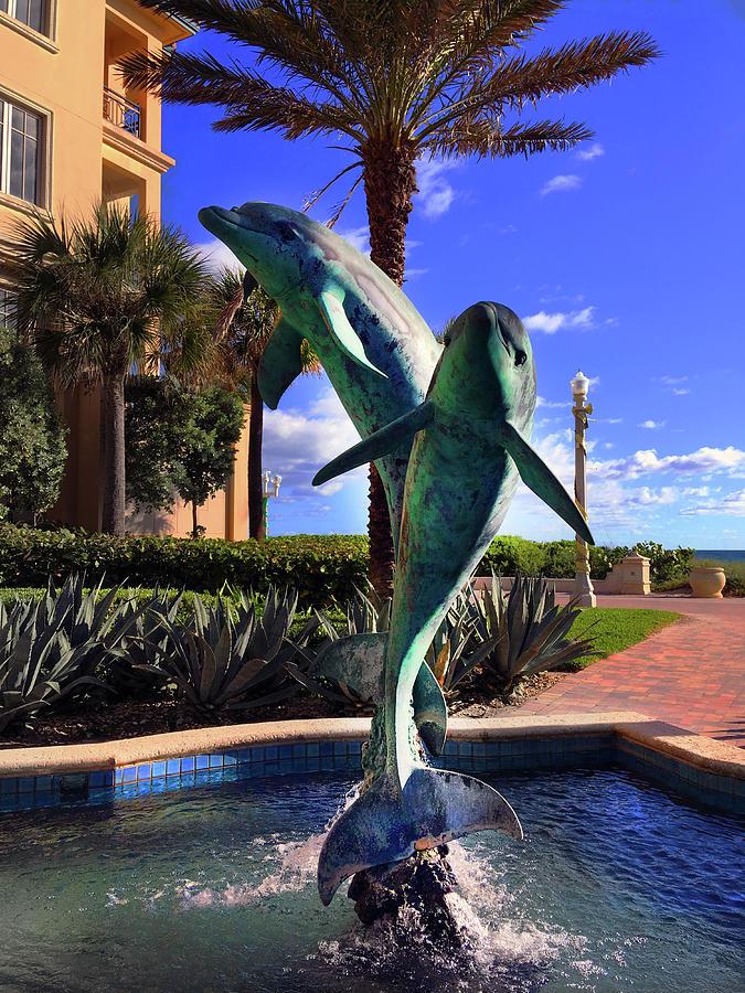 Dolphin Fountain by Carlos Diaz