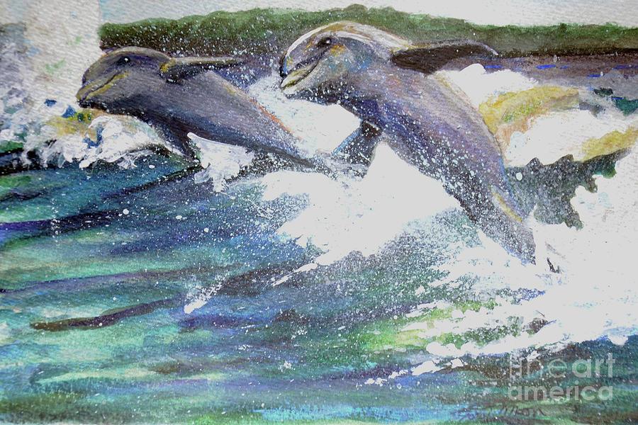 Dolphin fun by Lori Moon