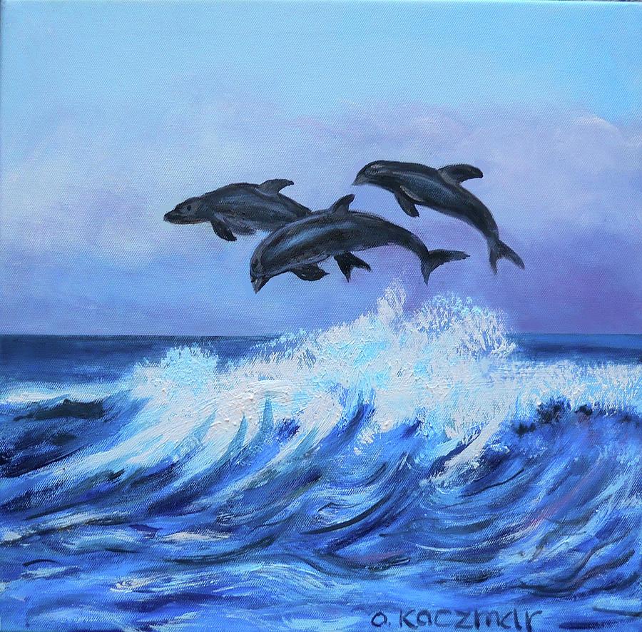 Dolphins by Olga Kaczmar
