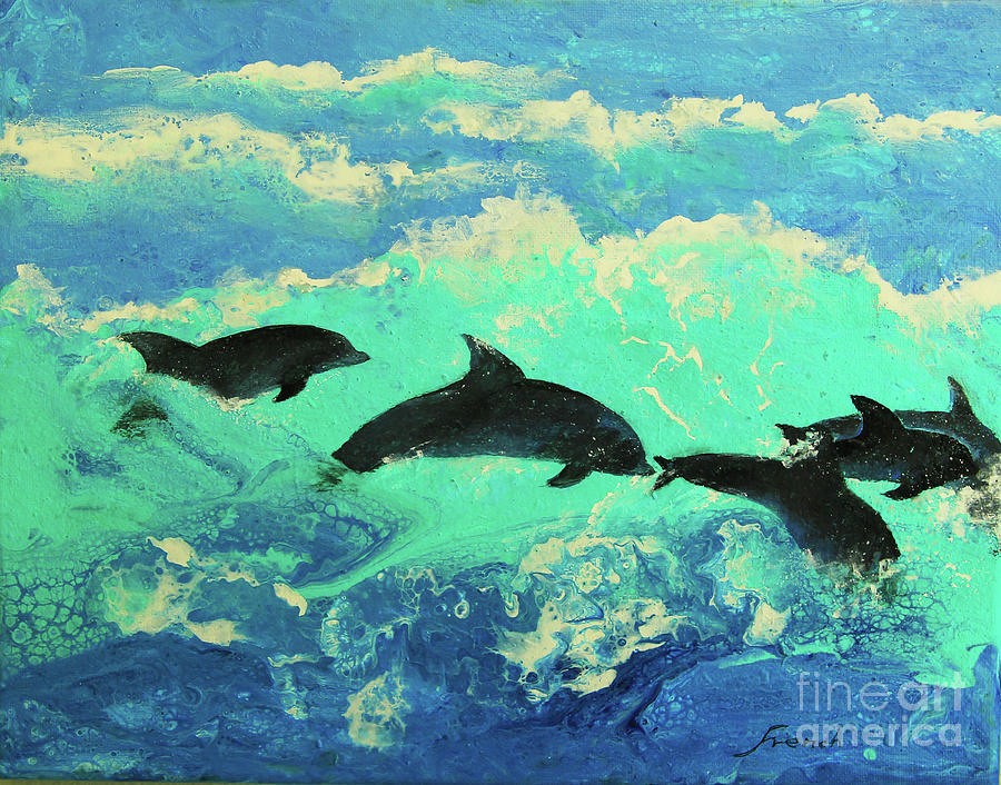 Dolphins Play by Jeanette French