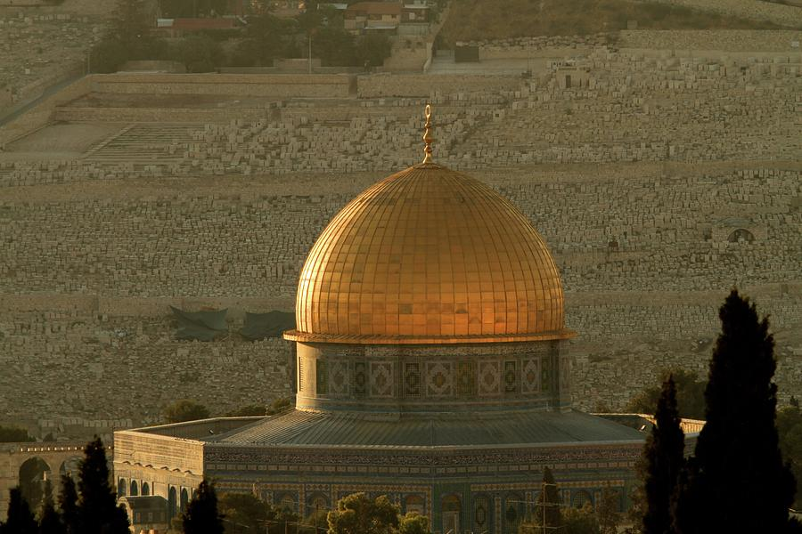 Dome Of The Rock Photograph - Dome Of The Rock Mosque In Jerusalem by Picturejohn