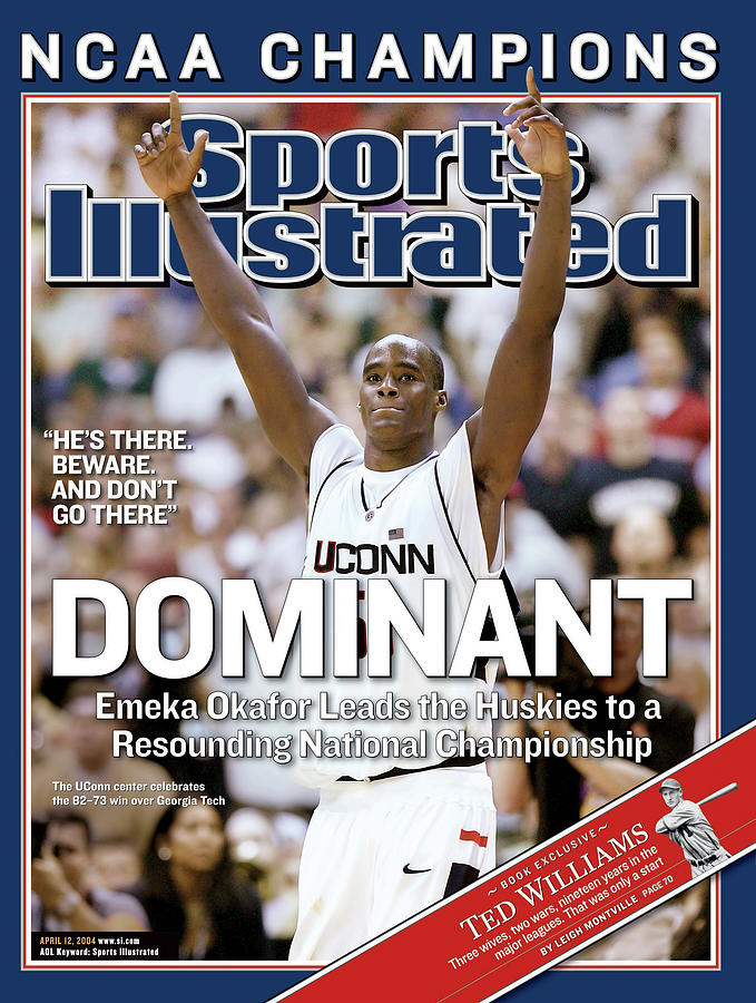 Dominant Emeka Okafor Leads The Huskies To A Resounding Sports Illustrated Cover Photograph by Sports Illustrated