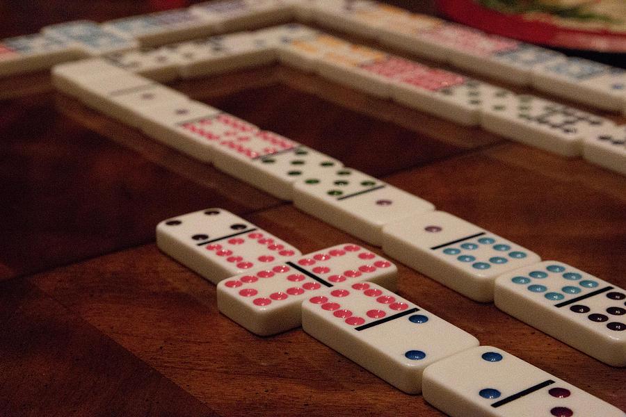 Domino Photograph - Domino Fun by Laura Smith