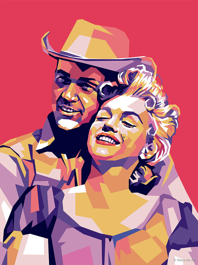 Don Murray And Marilyn Monroe Digital Art