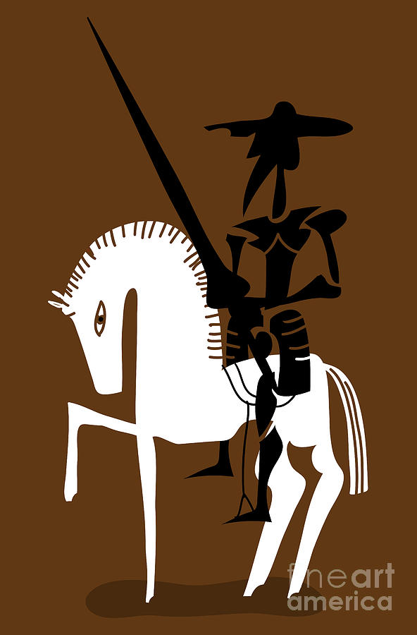 Spain Digital Art - Don Quixote Knight And His Horse by Complot