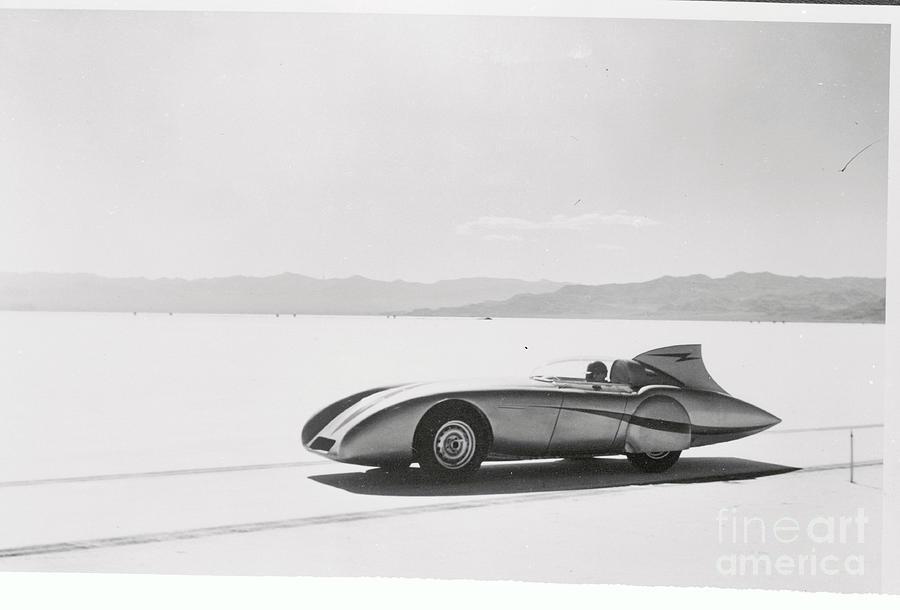 Donald Healey Driving Car He Designed Photograph by Bettmann