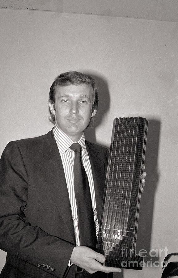 Donald Trump Holding Model Of Tower Photograph by Bettmann