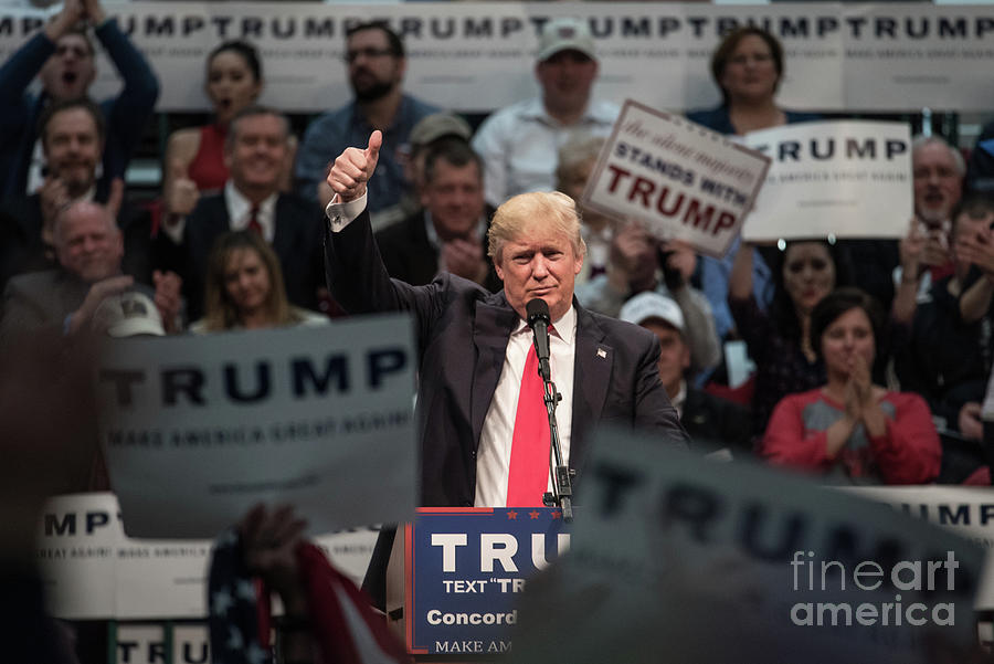 Donald Trump Holds Campaign Rally Photograph by Sean Rayford