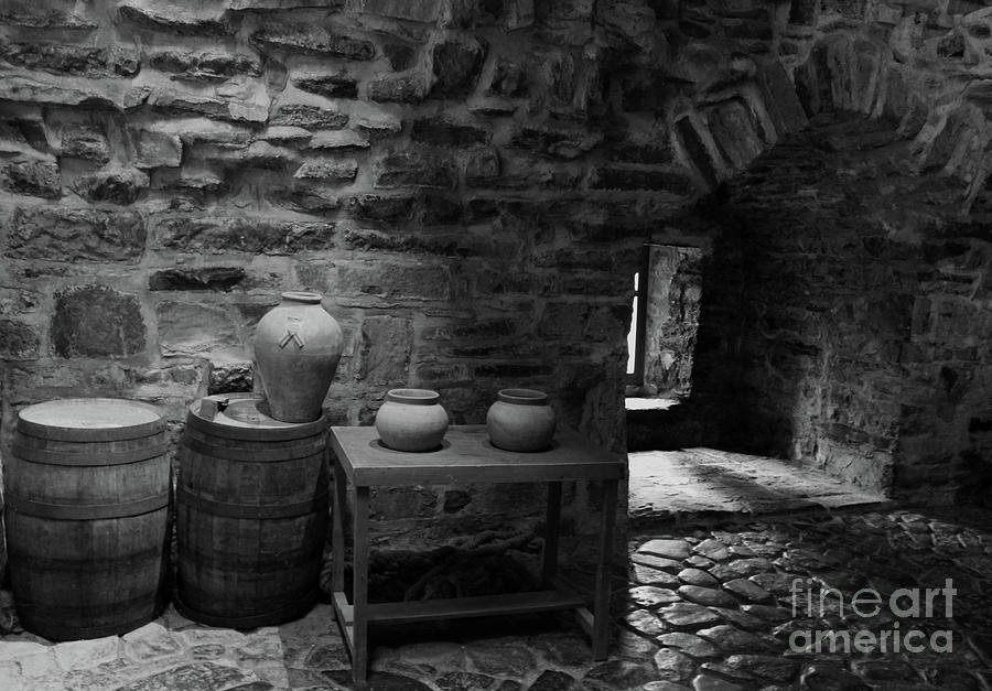 Donegal Castle Interior Bw Photograph By Eddie Barron