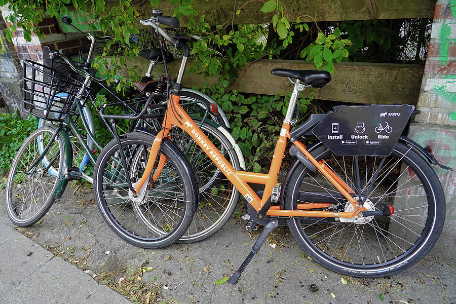 Donkey Republic Bicycle Rental Company In Copenhagen Denmark by Richard Rosenshein