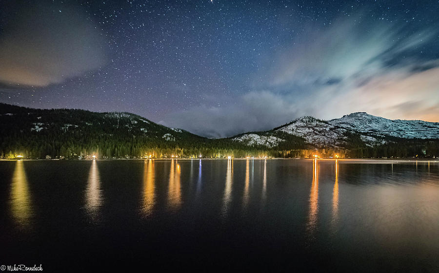 Donner Lake before the Storm by Mike Ronnebeck
