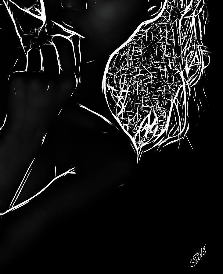Male Digital Art - Dont Be Shy by Steve K