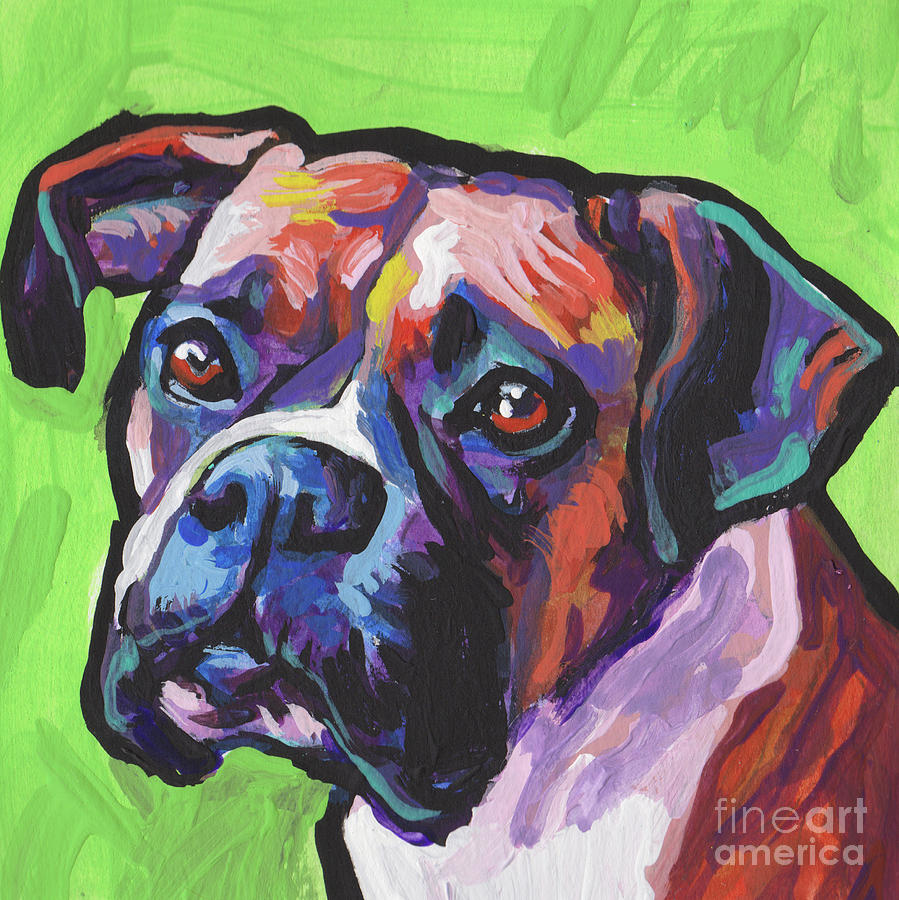 Boxer Painting - Dont Put Me In A Box by Lea
