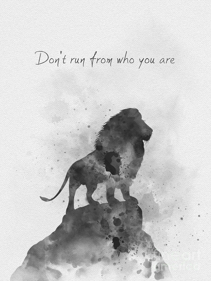 Narnia Mixed Media - Dont Run From Who You Are Black And White by My Inspiration