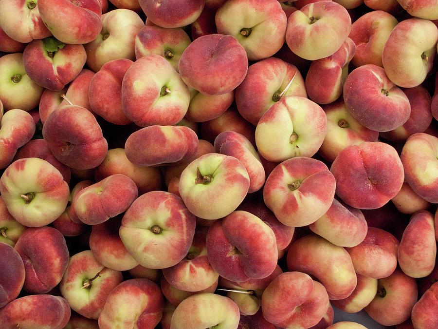 Donut Peaches At A Farmers Market Photograph by Bill Boch