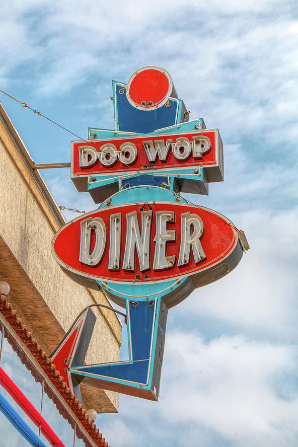 Doo Wop Diner Wildwood by Kristia Adams