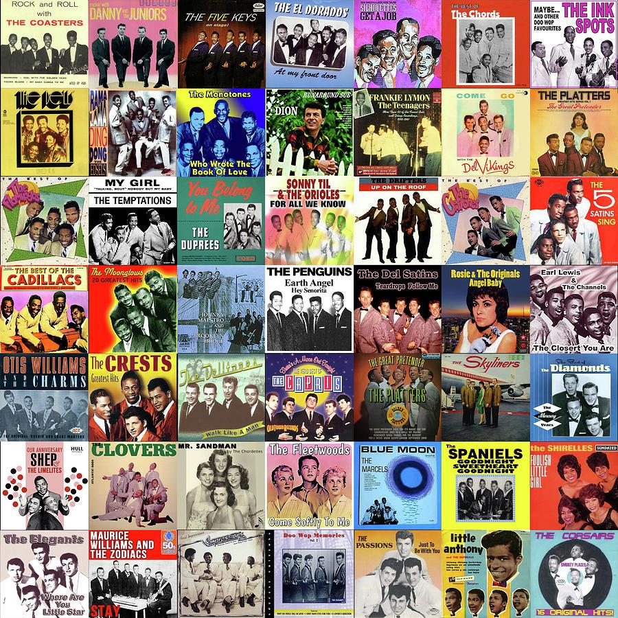 Album Covers Digital Art - Doo Wop Singers by Max Huber