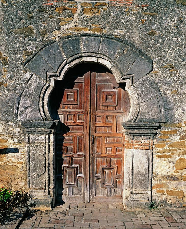 Door At Mission Espada Church, San Photograph by Murat Taner