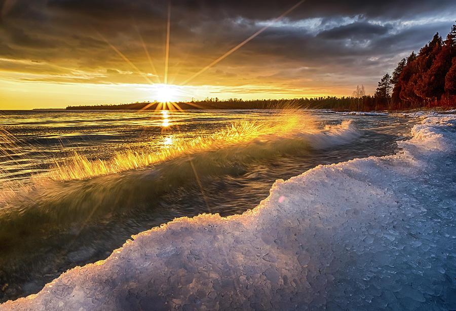 Door County Sunset by Brad Bellisle