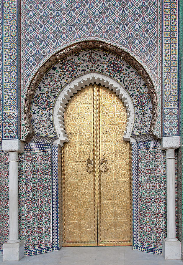 Door Of The Royal Palace, Fez, Morocco Photograph by Korhan Sezer