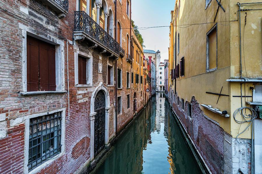 Venice Photograph - Door on water by Andrei Dima