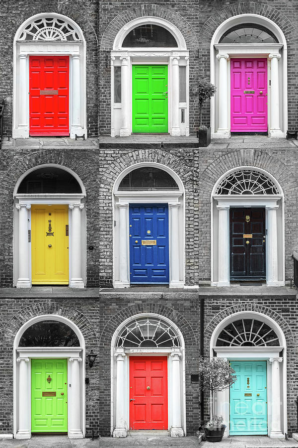 Dublin Photograph - Doors Of Dublin - Vertical by Delphimages Photo Creations