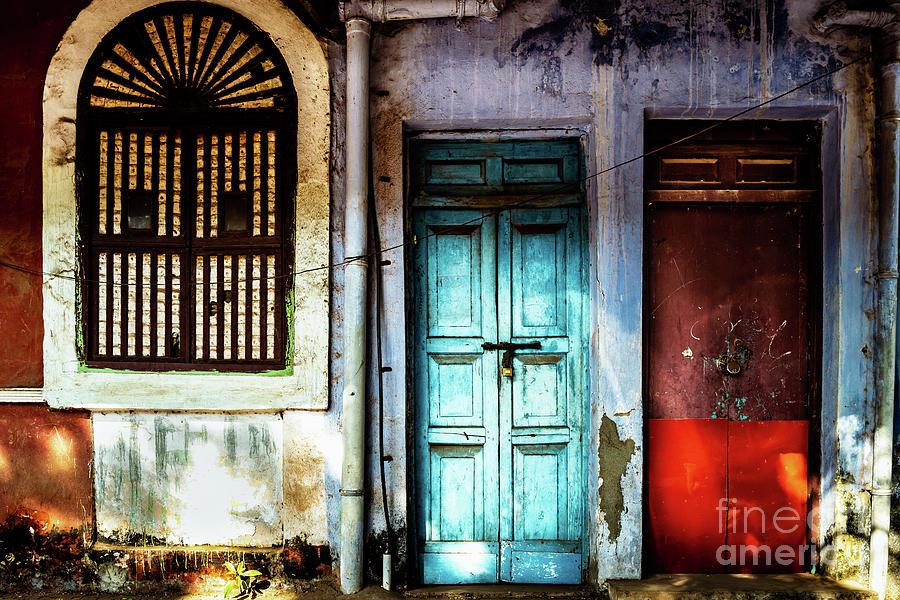 Doors of India - Blue Door and Red Door by Miles Whittingham