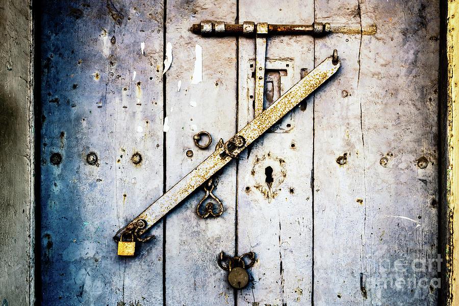 Doors of India - Blue Door Detail 1 by Miles Whittingham