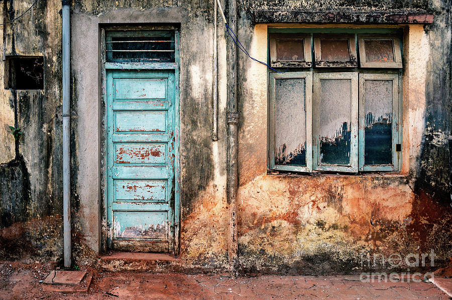 Doors of India - Faded Blue Door by Miles Whittingham