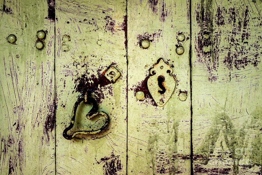 Doors of India - Green Door Detail by Miles Whittingham