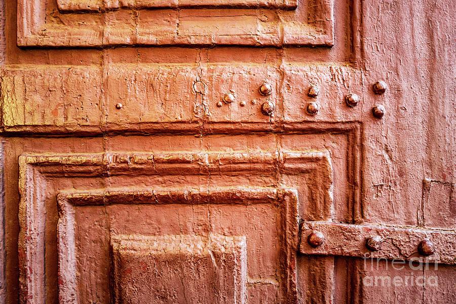 Doors of India - Orange Temple Door by Miles Whittingham