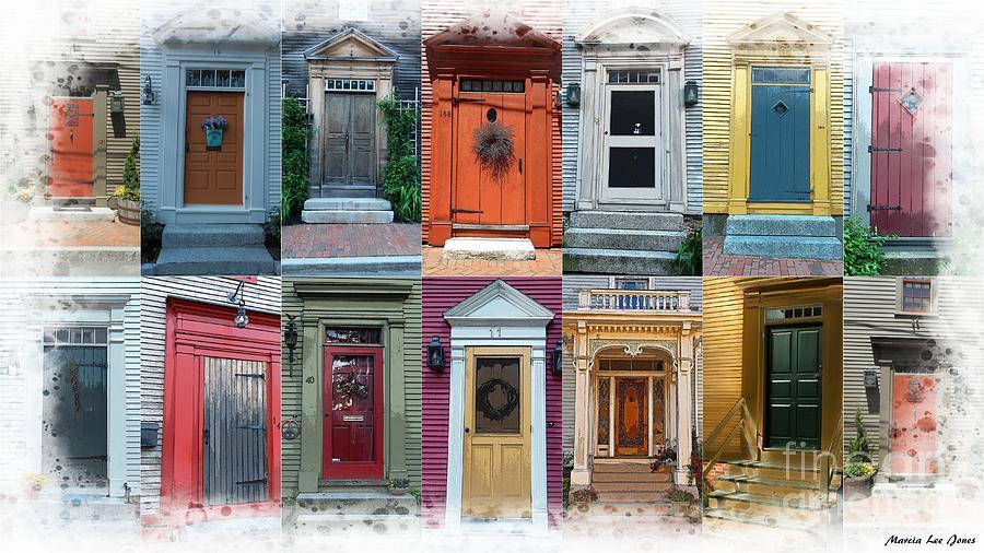 Doors of Portsmouth, Nh by Marcia Lee Jones