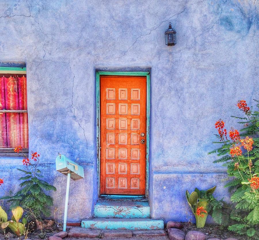 Tucson Photograph - Doors of Tucson - Orange by Jan Hicks