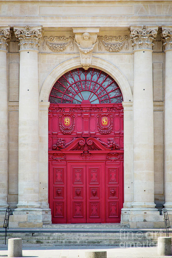 Doors to Saint Paul-Saint Louis Church in the Marais Paris France by Brian Jannsen
