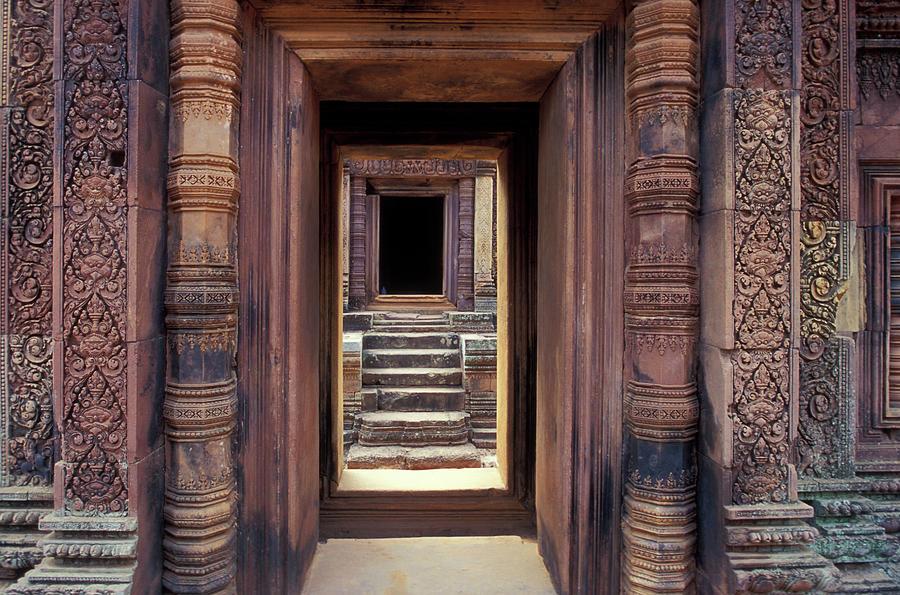 Doorway, Angkor Wat, Cambodia Photograph by James Gritz