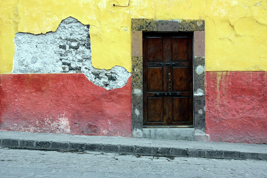 Doorway Of Colorful Building In Mexico Photograph by Tankbmb